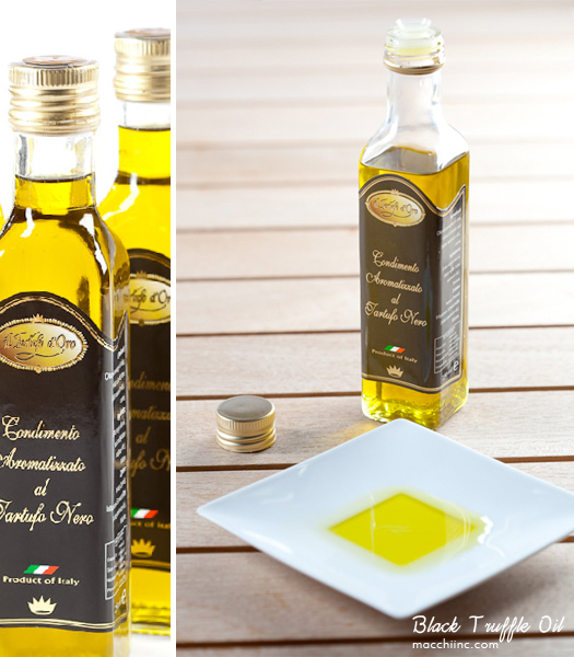 Black Truffle Oil, imported to Montreal by Macchi Inc. - Photos by Montreal Photographer Vadim Daniel