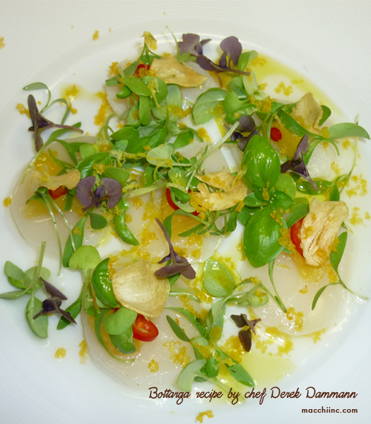 Bottarga Recipe by Chef Derek Dammann at DNA Restaurant