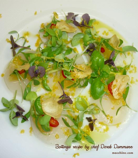 Bottarga Recipe by Chef Derek Dammann at DNA Restaurant