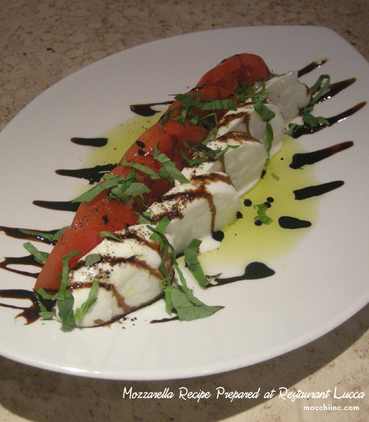 Caprese di Buffala Recipe by Restaurant Lucca's Team
