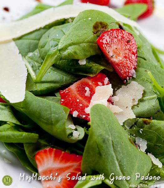 Baby spinach salad w. Parmigiano Grana Padano - Picture taken by Montreal Photographer Vadim Daniel