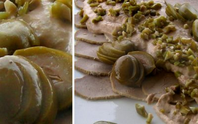 Paolo's Truffled Dwarf Peaches Recipe: Vitello Tonnato